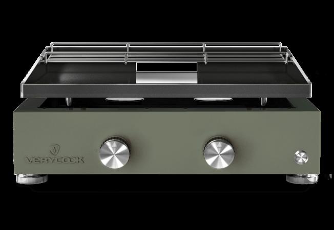 Plancha de gas de acero esmaltado con 2 fuegos Simplicity