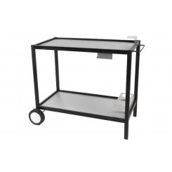 Mesa en metal con tabla en inox