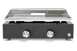 Plancha de gas de acero inoxidable con 2 fuegos Simplicity